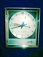 Mid Century Windup Day Date Calendar Vintage Bradley Alarm Clock Made in Japan