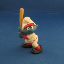 Smurfs 20129 Baseball Batter Smurf Vintage Schleich Figure Pvc 1980 Bat #3