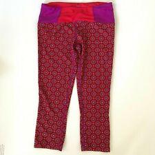 PRANA Womens Yoga Activewear Geometric Print Kaleidoscope Red Purple Leggings S