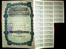 Compagnie de Mines et Minerais1930,Share c.California mining