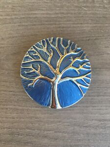 Blue Mulberry Tree Of Life Magnetic Brooch Ideal for Scarf Wrap Pashmina Gift