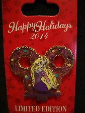 2014 Disney Happy Holidays Rapunzel Tangled Wreath LE Pin