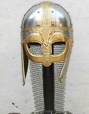 Roman Viking Deluxe Chain Mail Helmet Medieval Reproduction Helmet