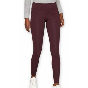Athleta Women's M Metro High Waisted Legging Purple Burgundy Active Pants Tight