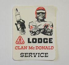 VECCHIO ADESIVO MOTO / Old Sticker CROSS CLAN MC DONALD LODGE (cm 7,5 x 9,5)