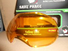 New Save Phace SUM2 Sport Goggles Mask Anti-Fog Replacement Lens - Yellow