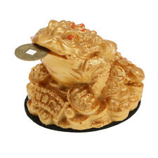 Feng Shui Fortune Chanceux Oriental Chinois Richesse Grenouille Crapaud - Or