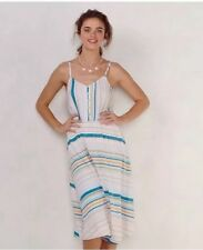 Lauren Condrad Women's Spaghetti/Cami Stripe Circle Skirt Midi Dress NWT Size 4