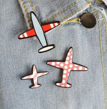 New Aircraft 3 Acrylic Brooch Pins Airplane Plane Pin Jacket Collar Lapel Badge