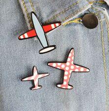 New Aircraft 3 Acrylic Brooch Pins Airplane Plane Pin Jacket Collar Lapel Badge