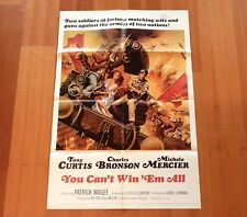 """ORIGINAL MOVIE POSTER """"YOU CAN'T WIN 'EM ALL"""" 1970 ONE-SHEET CHARLES BRONSON"""
