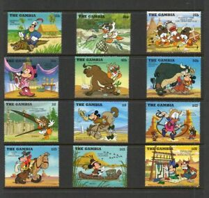 """The Gambia - """"Cowboys and Indians"""" - Scott #'s 1698-1713 - Disney Topical - MNH"""
