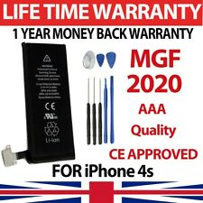 New Genuine Replacement Battery for iPhone 4S 1430mAh 100% Capacity + Tools