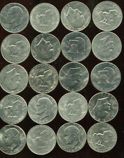 ROLL OF 20 ASSORTED  EISENHOWER DOLLARS   (D882)