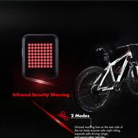 64 LED Bici MTB Fanale posteriore LUCE USB Freno Indicatore direzione Sensore G