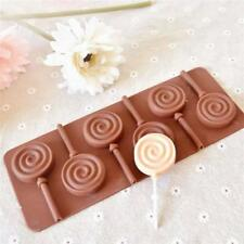 6-Capacity Silicone Lollipop Lollypop Baking Chocolate Hard Candy Molds NEW - FI