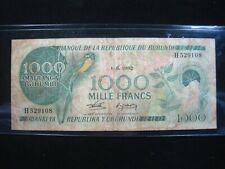 Burundi 1000 Francs 1982 P31b Circ Sharp 108# Bank Currency Money Banknote
