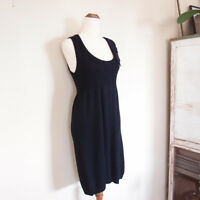 CUE Black Knit Wool Blend Sleeveless Pencil Dress Work Corporate Size S 8-10
