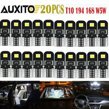 20x White Error Free T10 LED 2835smd Interior Wedge Light Bulb W5W 194 168 2825