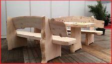 Bausatz rustikale Holzgarnitur/Sitzgruppe Hochzeitsbank aus Weißtanne 235cm