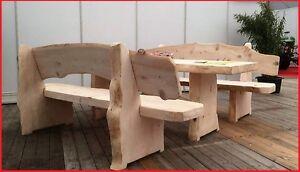 Bausatz rustikale Gartengarnitur aus Weißtanne 235cm