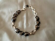 100% Authentic THOMAS SABO STERLING SILVER BRACELET with BLACK ONYX STONES