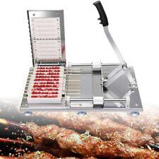Bbq Manual Beef/Mutton/Chicken Kebab Machine Meat String Skewer Stainless Steel