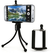 Mini Trípode Flexible De Mesa Con Clip Para Cinturón De Bolsillo + Montaje De Teléfono inteligente estándar