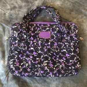 Marc Marc Jacobs purple floral laptop sleeve bag