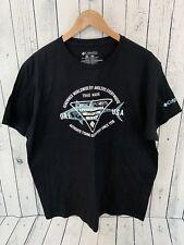 COLUMBIA PFG Fishing T Shirt Black Size XL 100% Cotton T3