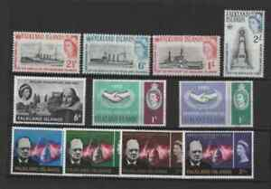 3 sets of stamps from the falkland islands