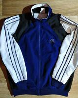 Adidas 90's Vintage Mens Tracksuit Top Jacket Black Blue White Hype Striped