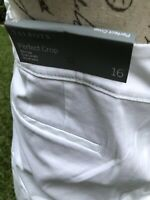TALBOTS PERFECT CROP WHITE PANTS CAPRI ANKLE PANTS SLIM LEG 16 NWT
