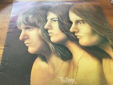 "Emerson Lake and Palmer - Trilogy 12"" LP Island Records Pink rim EX"