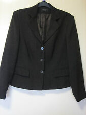 A WOMENS LOVELY PRINCIPLES COLLECTION BROWN JACKET SIZE 14 BUTTON  FASTENER