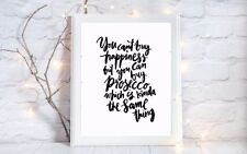buy happiness prosecco quote a4 glossy Print picture gift poster unframed