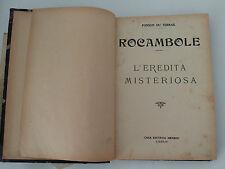 ROCAMBOLE - Ponson du Terrail- EREDITA' MISTERIOSA- NERBINI - Tancredi Scarpelli