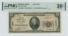 1929 TY 1 $20 First NB Bellaire Ohio National CH#1944 PMG VF30 EPQ