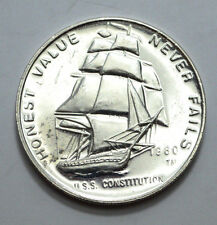1980 1 Oz .999 Silver Round The International Silver Trade Unit USS.Constitution