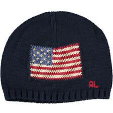 POLO RALPH LAUREN Kids  Boys  Girls  Knitted Navy Flag Hat ecd7499bd0c