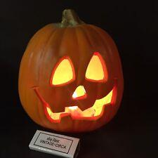 VINTAGE HALLOWEEN FOAM Mold Jack O Lantern Light Pumpkin TRENDMASTERS 93 *RARE*