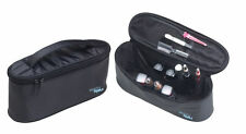 HAIR TOOLS BLACK BEAUTY/MANICURE TOOLS POUCH WITH VARIETY OF COMPARTMENTS