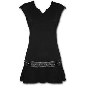 Spiral Direct GOTHIC ROCK Womens, Goth/Biker/Stud/Mini Dress/Tunic/Clothing/Top