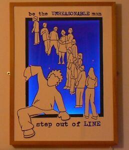 Unreasonable Line Screen Printed Light Box Home Decor Lighting Artwork. LAST 1!