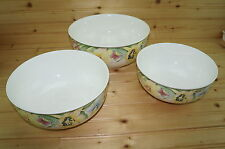 "Villeroy & Boch Canari (3) Vegetable Serving Bowls (nesting) 10"" x 4½""- 8¾""- 8"""