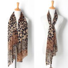 Small Animal Leopard Print Flat Ladies Large Fashion Shawl Scarf T8