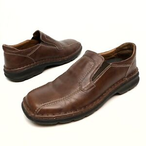 ✅❤️✅@ Josef Seibel  Brown Leather Bicycle Toe Loafers Shoes Men's 11.5-12 Eu45