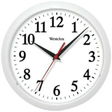 Westclox 10 Inch Diameter White Battery Operated Wall Clock from USA Seller