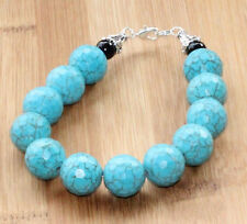 Turquoise Bracelet Natural Gemstone 7.5 inches long