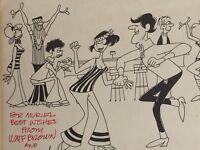 William F Brown Mel Casson Cartoon Vintage 23799 Signed Wm